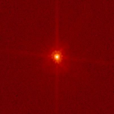 O telescópio espacial Hubble capturou a imagem de Makemake. Crédito: Mike Brown/HST