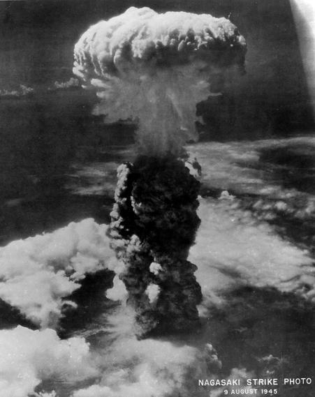Explosão atômica em Nagasaki 1945