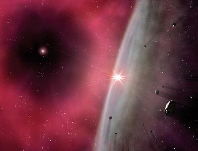 Visão artística do disco protoplanetário nos primeiros instantes da formação do sistema solar. Foto: Gabriel Pérez Díaz.