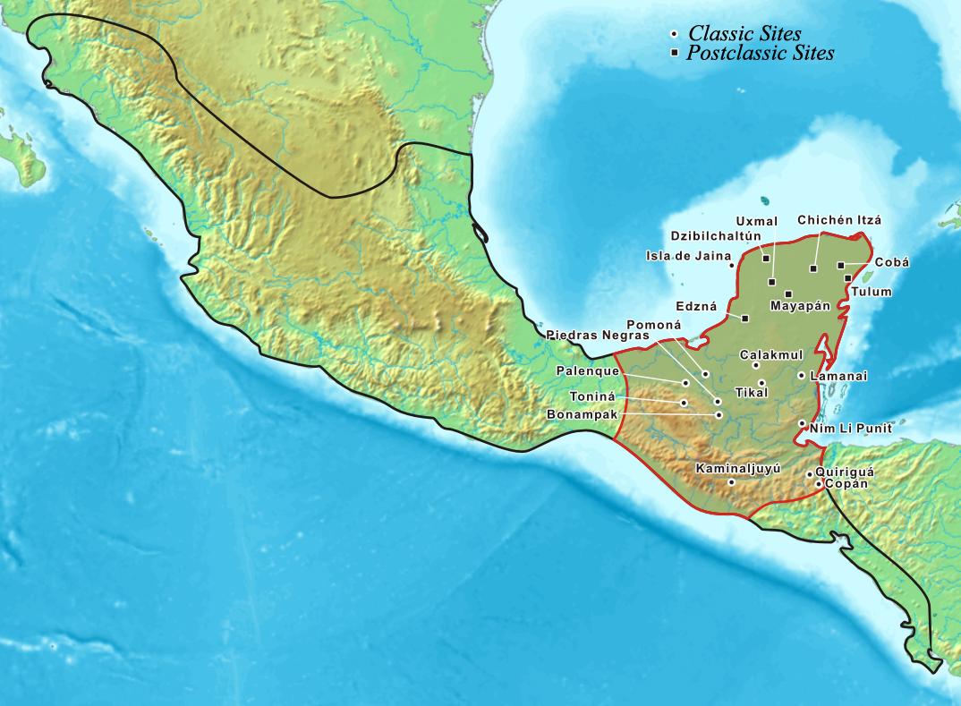 A civilização Maia dominou grande parte a América Central pré-colombiana