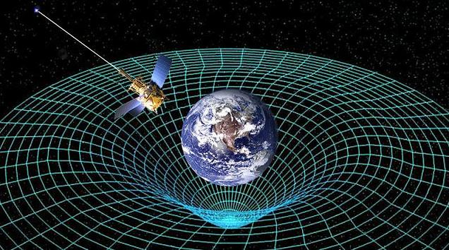 Esta concepção artística mostra a Gravity Probe B orbitando a Terra para medir o espaço-tempo. Um novo estudo propõe que o espaço-tempo poderia ser tanto contínuo como discreto simultaneamente. Crédito: NASA.
