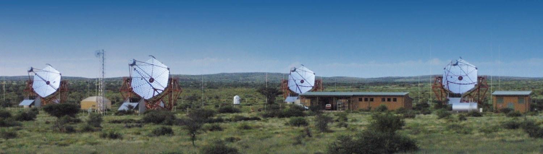 Os 4 telescópios gêmeos H.E.S.S.