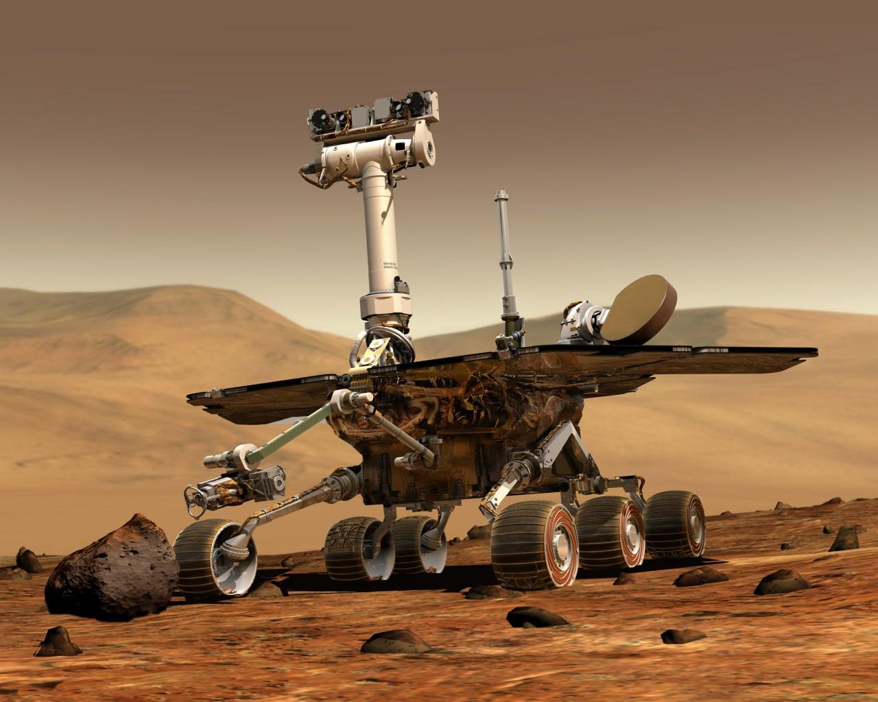 O robô explorador Opportunity recebeu recentemente um pacote de software com Inteligência Artificial. Crédito: NASA