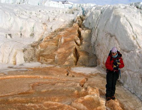 Um ecossistema foi encontrado nessa região da Antárctica. Crédito: Jill Mikucki