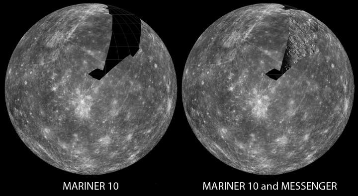 A MESSENGER está preenchendo os vazios do mapa de Mercúrio