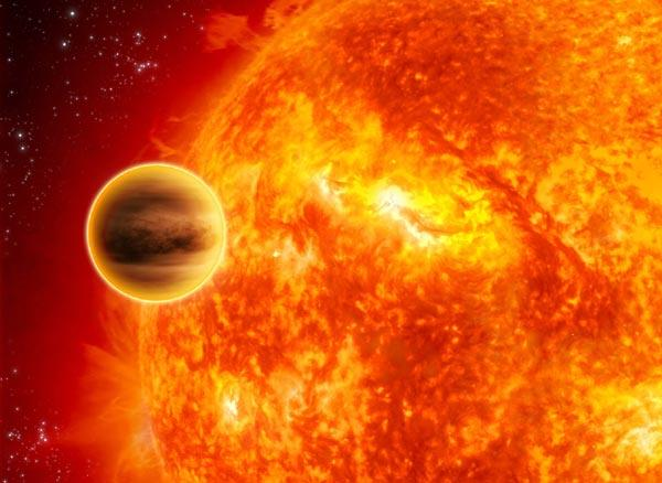 WASP-12b é considerado o planeta mais quente já encontrado (Ilustração: ESA/C Carreau)