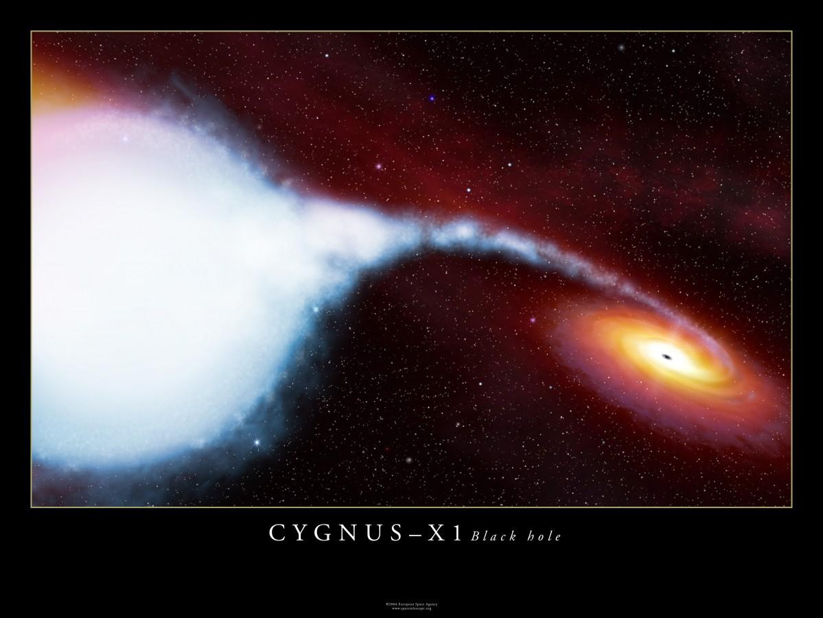 O buraco negro Cygnus-X1 e sua companheira supergigante azul HDE 226868