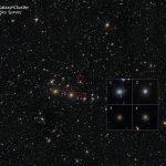 Hubble encontra evidências da matéria escura nas galáxias anãs do aglomerado Perseus