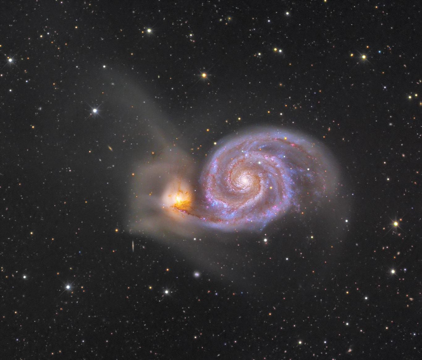 M51: A galáxia do Rodamoinho sob a lente de Jon Christensen