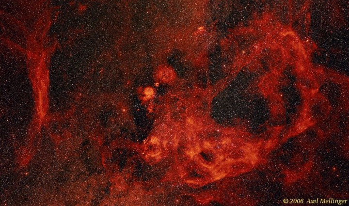 Vela_50mm_HaRGB_1000 Axel Mellinger Gum Nebula