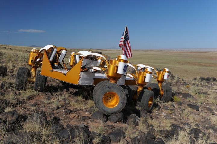Chariot B no topo do Ponto Negro do Fluxo de Lava