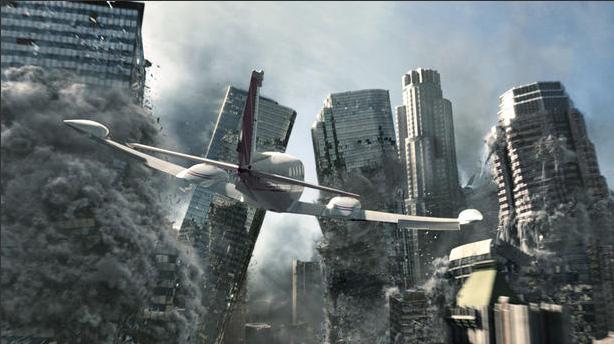 Imagem do filme 2012 mostrando o 'fim-do-mundo'. Crédito: Colúmbia Pictures