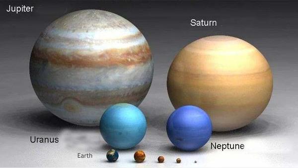 Júpiter e demais planetas: Júpiter sozinho tem 2,5 vezes mais massa que todos os demais planetas somados.