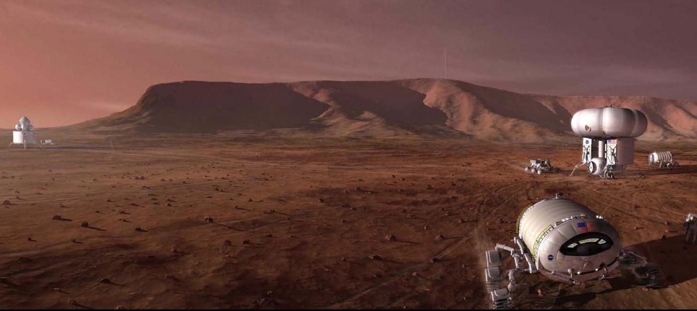 Missão tripulada a Marte. Crédito: NASA