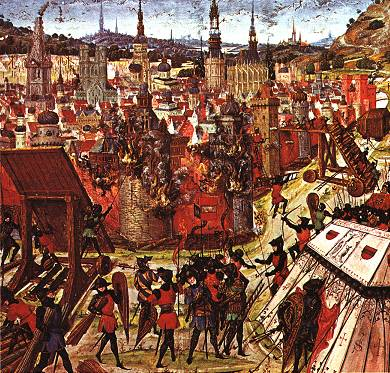 Tomada de Jerusalém em 1099 durante a Primeira Cruzada