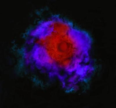 As estrelas obscuras poderiam crescer mais que as estrelas normais e poderiam colapsar para formar os gigantescos buracos negros nos núcleos das galáxias. Embora invisíveis aos olhos humanos, as estrelas obscuras seria detectáveis no infravermelho. Crédito: University of Utah