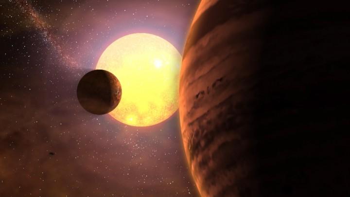 Infografía de un hipotético sistema planetario con una estrella  similar al Sol. Crédito: Gabriel Pérez, Servicio Multimedia/IAC  (www.iac.es)