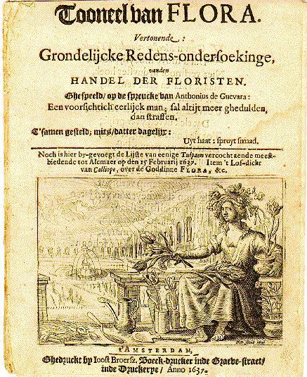 "Pamfleto de 1637 - ""Mania das Tulipas"""