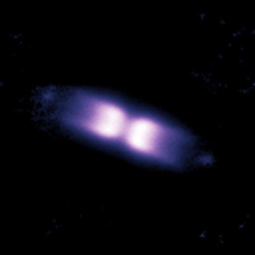 Imagem da concha de matéria em volta da V445 Puppis em março de 2007