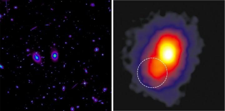 aglomerado estelar RXJ1347_Hubble_e_Chandra