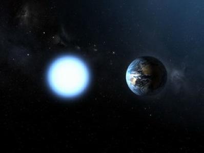 As anã-brancas tem tamanho similar ao da Terra, mas tem massa de 0,5 a 1,4 vezes a massa do Sol. Crédito da imagem: ESA/NASA