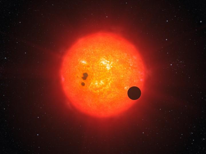 Gliese 1214 b em trânsito