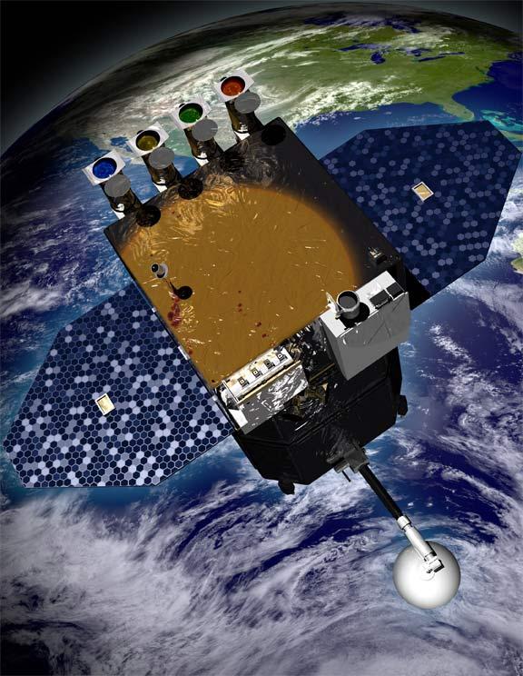 A sonda espacial SDO (Solar Dynamics Observatory) será lançada ao espaço em 9 de fevereiro de 2010 para observar o Sol. Crédito: NASA/Laboratório de Imagens do Centro Aeroespacial Goddard