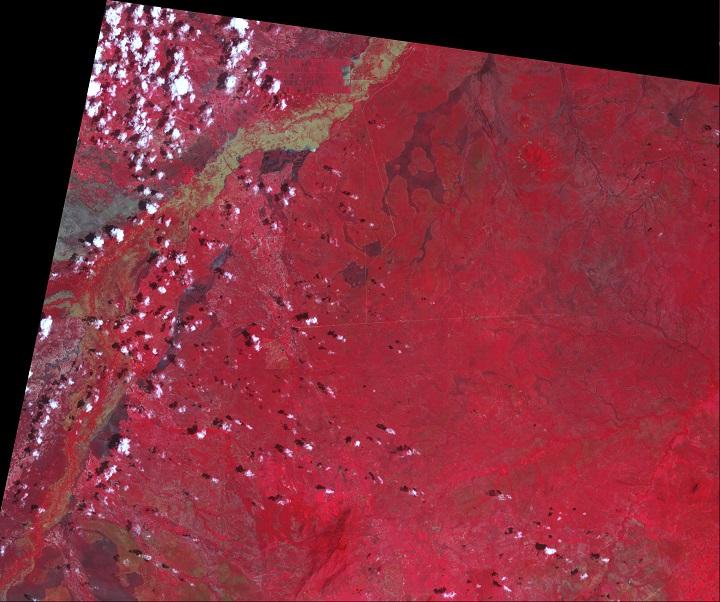 Imagem da Tanzânia em 15 de janeiro de 2010 pelo satélite TERRA da NASA mostra a inundação catastrófica. Crédito: NASA Earth Observatory