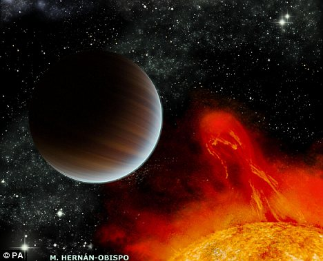 Visão artística do exoplaneta mais jovem já identificado: BD +20 1790b. Crédito: M. Hernán-Obispo