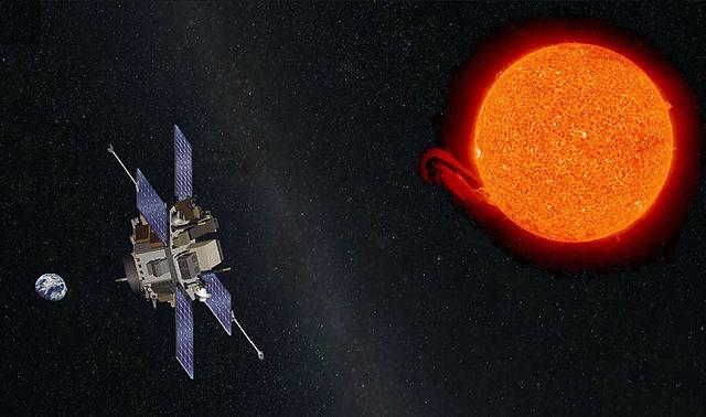 Dados fornecidos pelo satélite solar ACE (Advanced Composition Explorer) foram utilizados neste levantamento. A sonda ACE reside no ponto de Lagrange L1 e foi lançado em 1997 pela NASA para monitorar o Sol. Crédito: NASA/Caltech