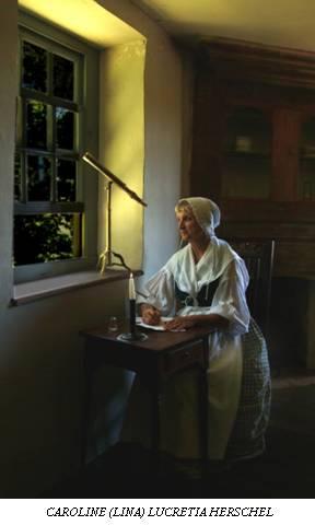Caroline Herschel retratada por Lynn King