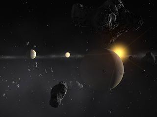 A anã laranja Gliese 710 se aproxima. Crédito: ESO