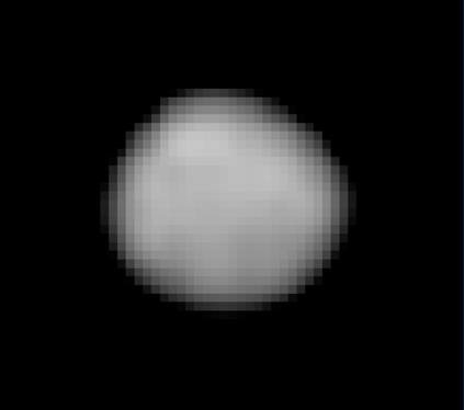 Pallas fotografado om filtro UV pelo Observatório Espacial Hubble em 2007