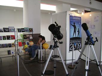 Exposição no Planetário