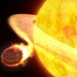 WASP 12b: exoplaneta da classe Júpiter quente é assassinado lentamente por estrela vampira