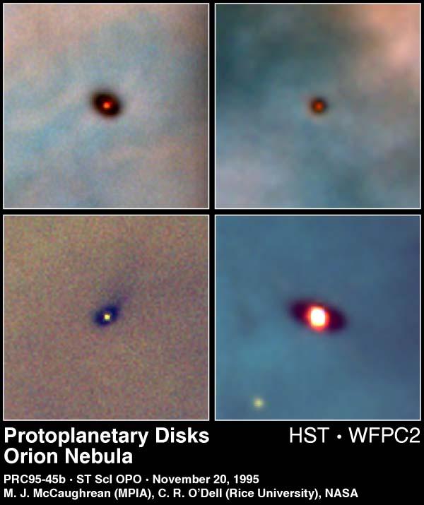 Hubble revela discos protoplanetários na nebulosa de Órion