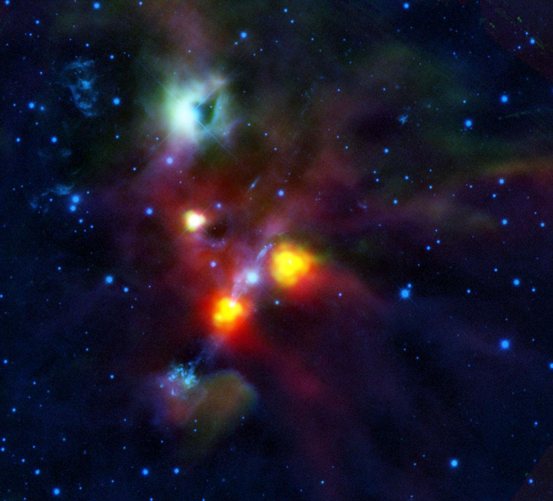Herchel e o buraco espacial na NGC 1999. Crédito: ESA/Herschel