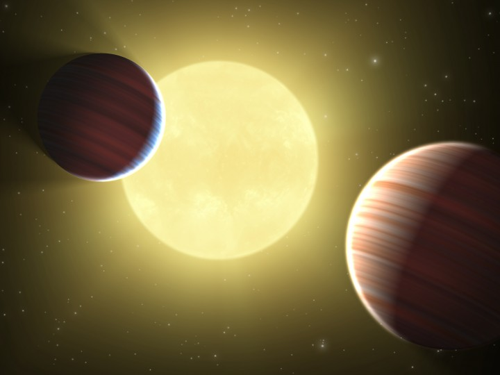 NASA Kepler 9 transitos