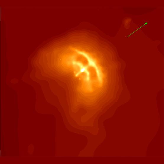 Imagem mostra os detalhes do Pulsar Vela capturada pelo observatório Chandra de raios-X. Crédito: G.Garmire et al. (PSU), NASA