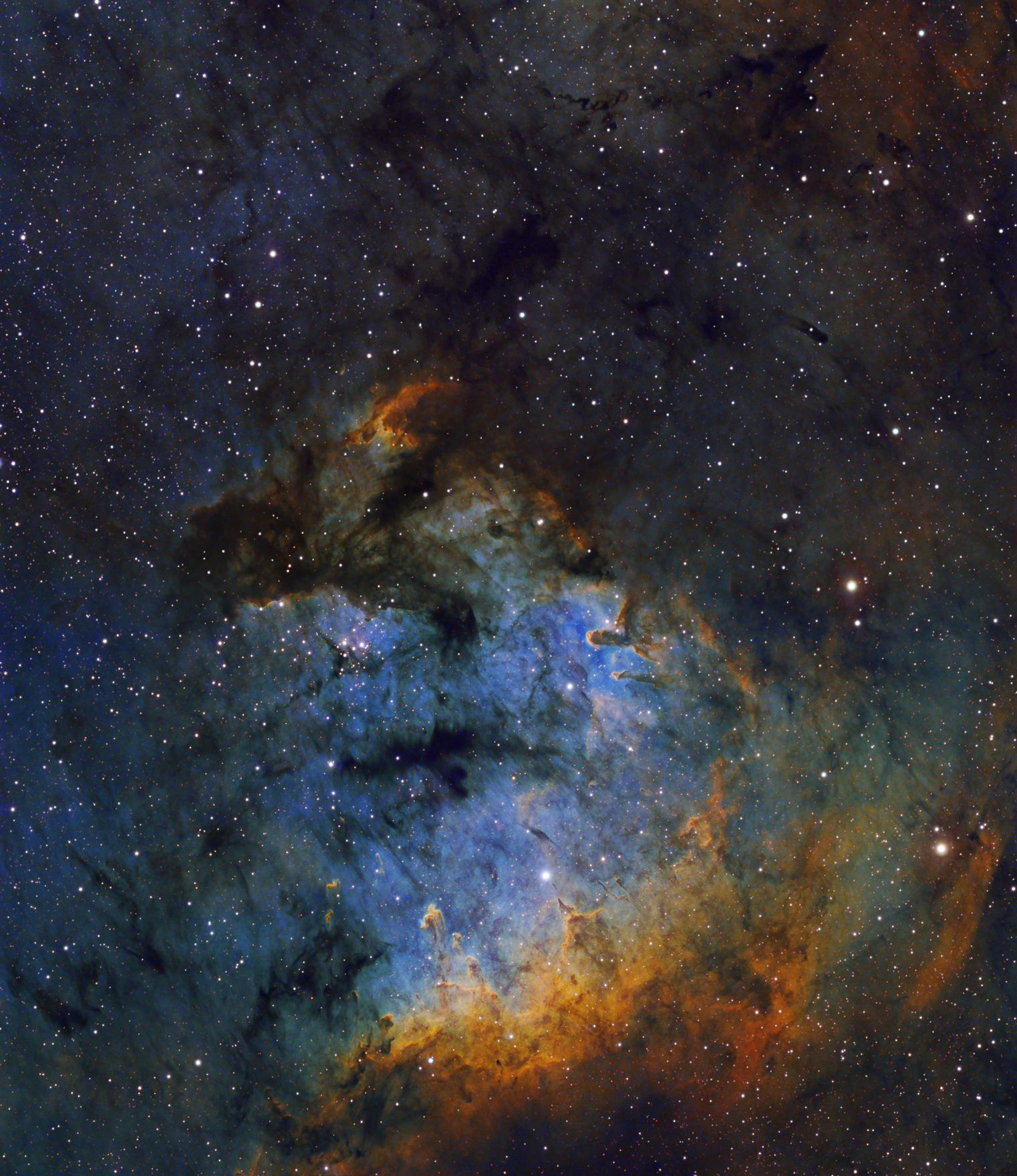 A NGC 7822 por Neil Fleming ©