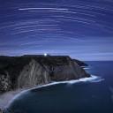 Falésias do Cabo Espichel em noite de Lua cheia. Crédito: Miguel Claro (astrosurf.com)