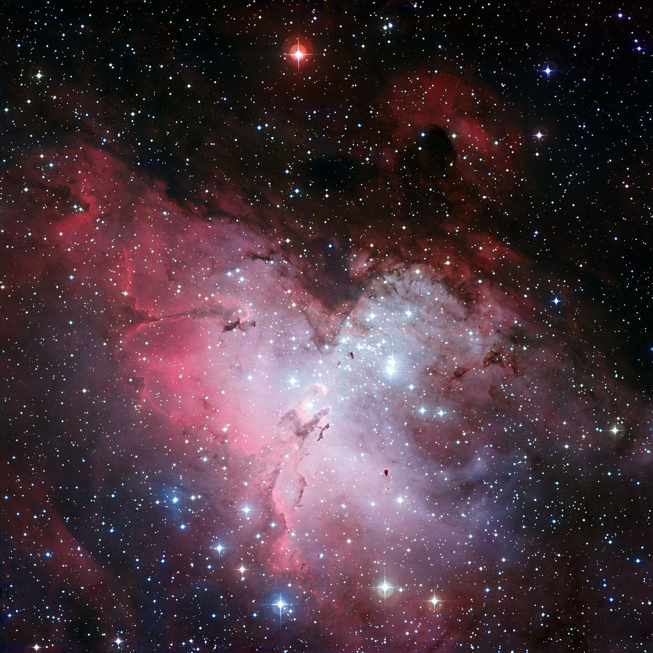 Nebulosa da Águia - M16. Crédito: ESO La Silla Chile.