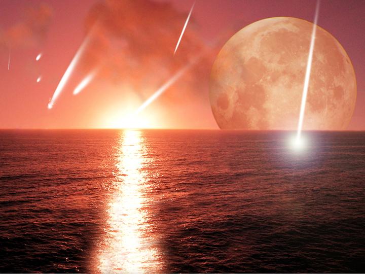 Os astrônomos estimavam que há muito tempo os asteroides trouxeram água para a Terra, preenchendo os oceanos. Se isto for verdade, esta agitação fornecida pelos planetas migratórios pode ter sido essencial para a entrega de água ao nosso planeta Terra. Crédito: Centro Harvard-Smithsonian para Astrofísica
