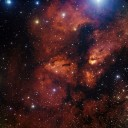 Uma visão da região onde está o berçário estelar RCW 38, localizado a 5.500 anos luz, na constelação de Vela. Crédito: ESO