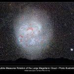 Hubble mede a rotação da Grande Nuvem de Magalhães
