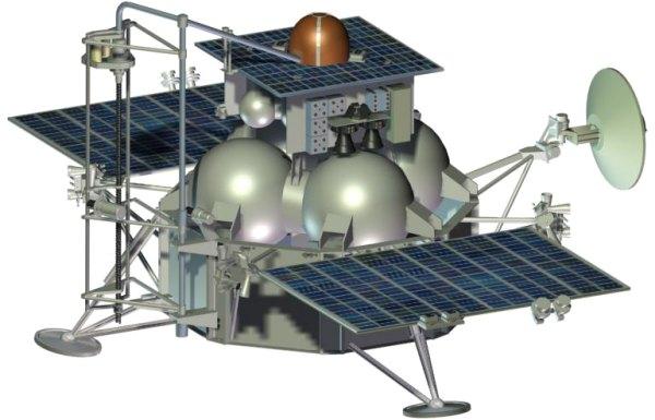 Ilustração da sonda Phobos-Grunt. Crédito: Agência Espacial Russa