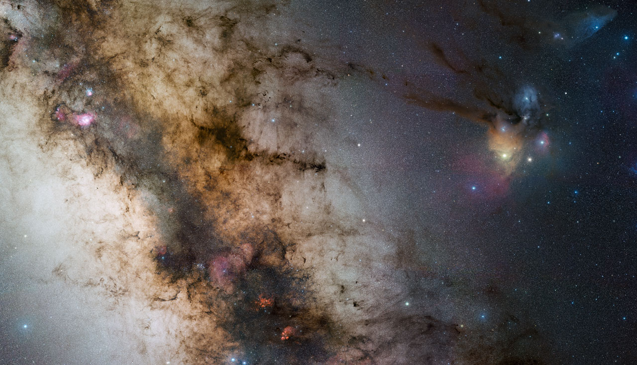 Este mosaico do centro da Via Láctea mostra as maravilhas celestiais sob a lente de Stéphane Guisard