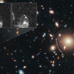 Aglomerado de galáxias funciona como lente e amplia imagem de Supernova distante