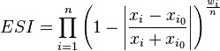 http://en.wikipedia.org/wiki/Earth_Similarity_Index#Formulation