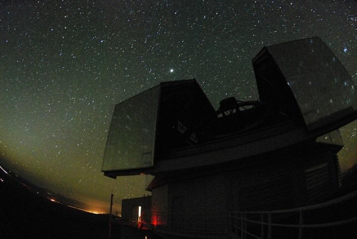 Telescópios de Magalhães em Las Campanas, Chile. Crédito: Kathryn Neugent